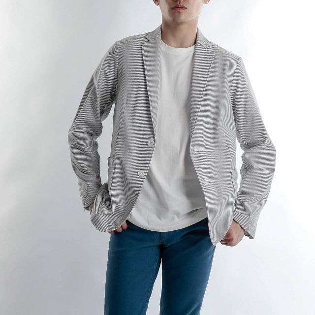 ストライプのジャケット